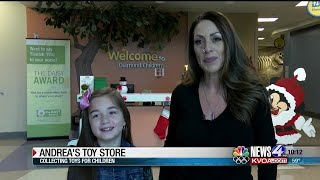 Young leukemia survivor collects toys for hospitalized children
