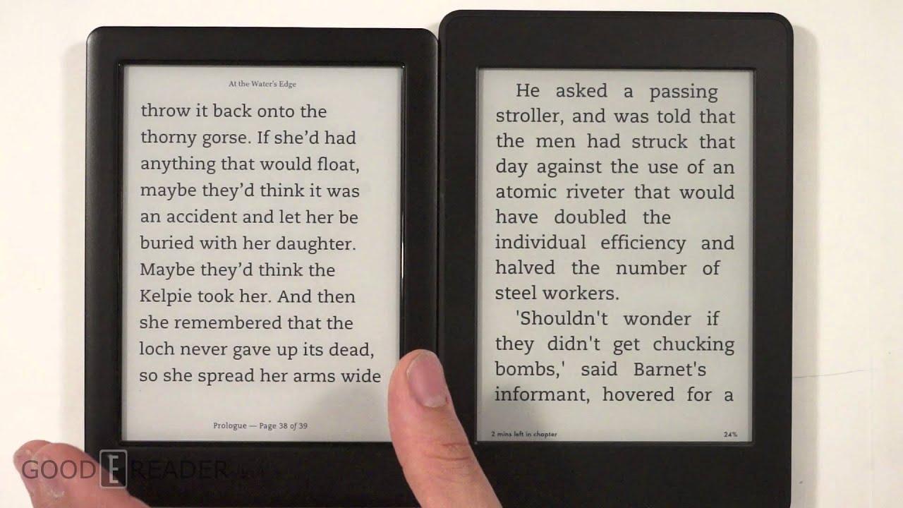 Kobo Glo Hd Vs Amazon Kindle Paperwhite 3 Youtube