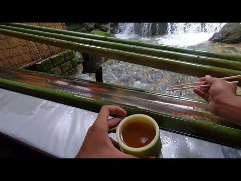 Hirobun Restaurant  - Nagashi Somen (Floating  Noodles) In Kyoto.