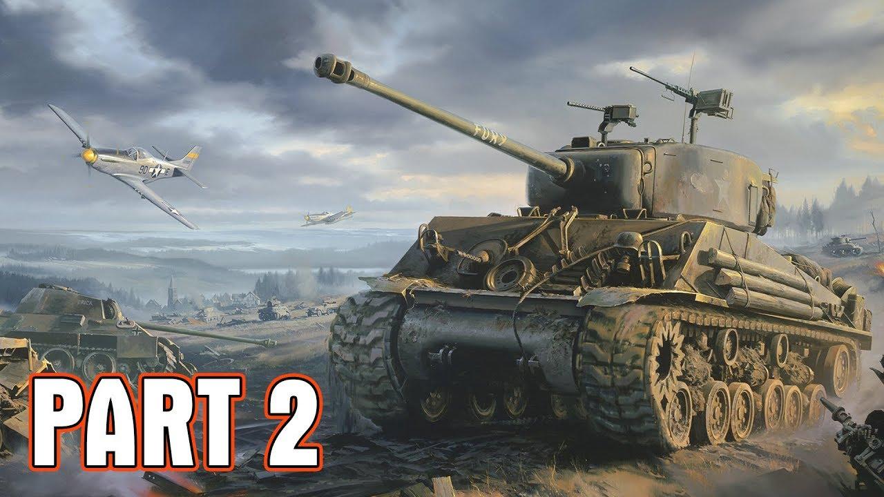 Call of Duty WWII #2: Lần đầu Quang Brave đi xe tăng bắn và máy bay chiến đấu