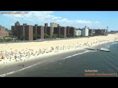 Coney Island beach - youtube.com/tanvideo11