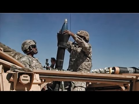 M106A3 Mortar Carrier & Crew In Action