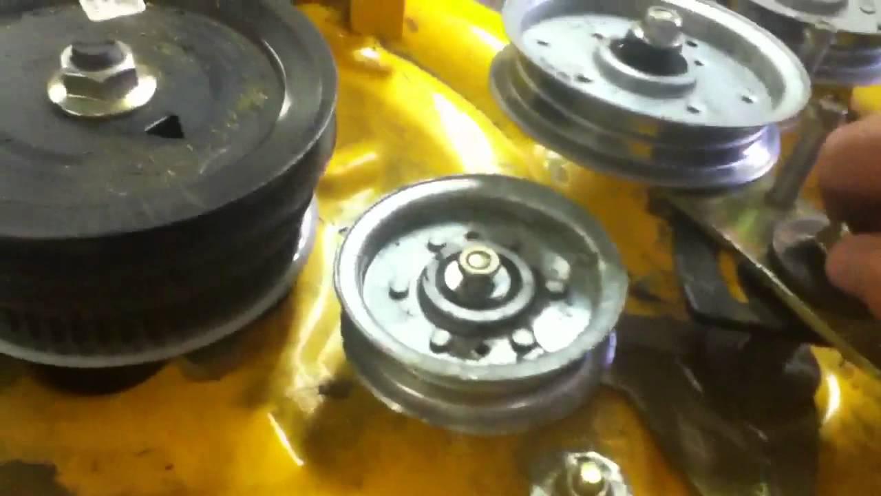 XLT1040 Cub Cadet deck repair Pt 2  YouTube