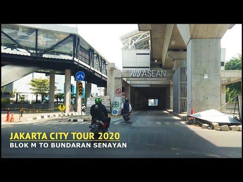 Driving Around Jakarta City 2020 - MRT Blok M Station To Bundaran Senayan Indonesia~ Walking Tour 4K