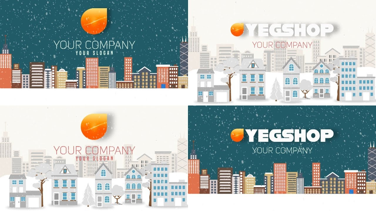 Christmas and New Year Text With Logo Reveal-After Effects Templates ...