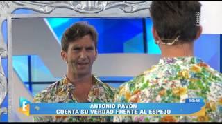 Antonio Pavón respondió a Sheyla Rojas parándose frente al espejo