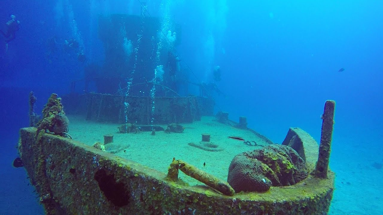 14. Scuba Diving In Cozumel, Mexico. Wreck C-53. GoPro