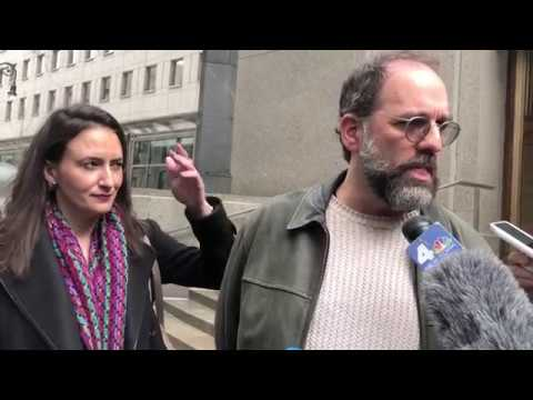 'Blocked By Trump On Twitter' Plaintiffs and Lawyers Outside Federal Court 3/8/18
