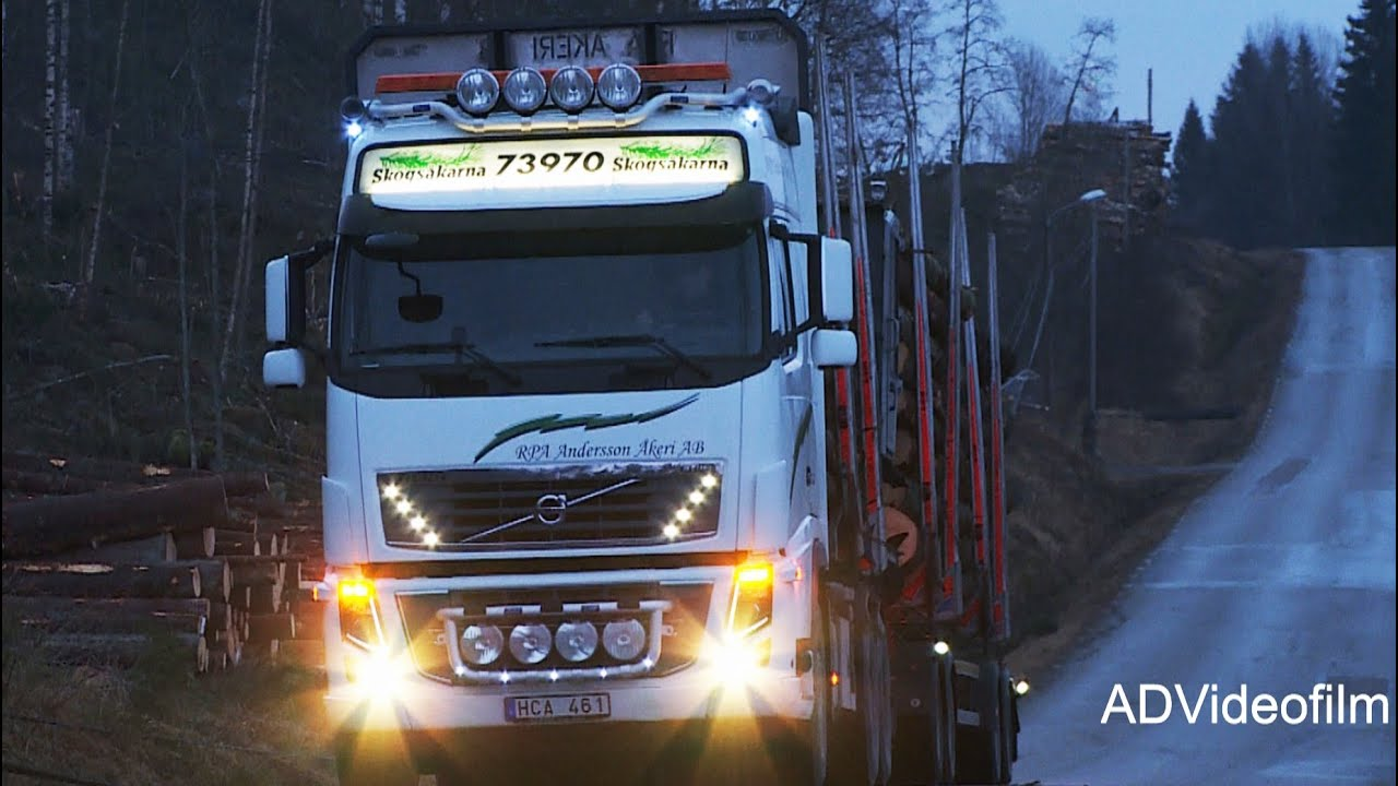 Volvo FH16 Timber truck 750 hp Sweden - YouTube