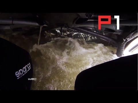 WRC Rally Mexico Ott Tänak ONBOARD CRASH - into a lake!
