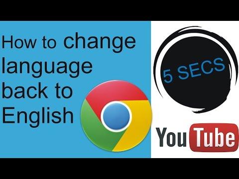 How to change google chrome language back...