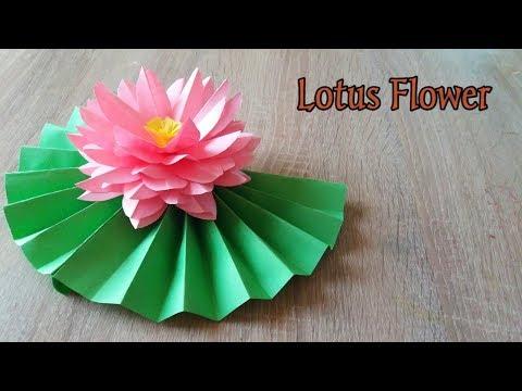 DIY Paper Crafts | How To Make Origami Lotus | Paper Flowers | Lotus Flower | DIY Paper Water Lily