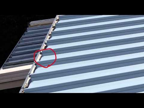 leaking roof repair Sydney - The importance of turning down ends of kliplok roof sheets