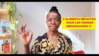 5 ALIMENTS NÉFASTES POUR LES FEMMES MÉNOPAUSÉES !