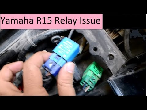 Yamaha R15 self start not working relay battery replaced under