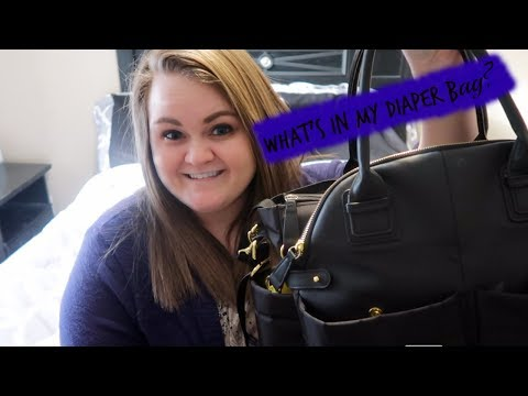 WHATS IN MY DIAPER BAG?(Skip Hop Chelsea Downtown Chic Diaper Satchel)