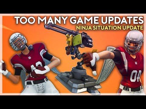 Too Many Updates + Ninja Situation Update (Fortnite Battle Royale)