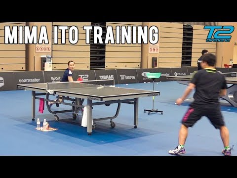 Mima Ito Training | Seamaster T2 Diamond 2019 Singapore