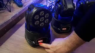 Lixada 7LED 105W RGBW 9/14 Channel DMX512 Mini Stage Light sound mode error
