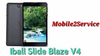 iBall Slide Blaze V4 Tablet Frp unlock Solution