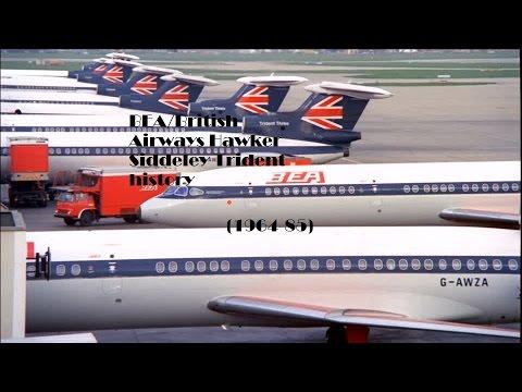 Fleet History - BEA/British Airways Hawker Siddeley Trident (1964-85)