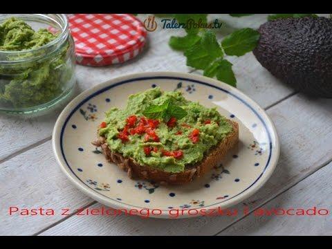 Pasta z zielonego groszku i avocado – TalerzPokus.tv