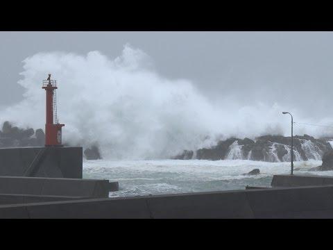 台風11号が四国を直撃 ー 高波と暴風 / Typhoon Halong Lashes Shikoku, Japan