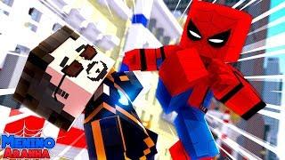 Minecraft: MENINO ARANHA - O HOMEM DE FERRO ME ATACOU!!! #247