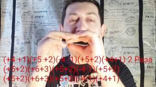 НЕ стандартные риффы для губной гармошки.Народный рифф.Урок №4