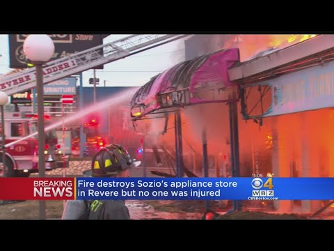 5-Alarm Fire Destroys Landmark Appliance Store Sozio's