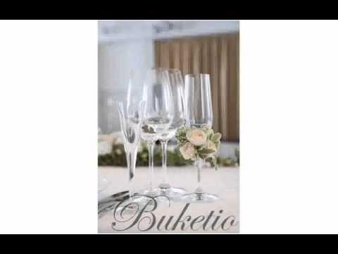 Cмотреть видео Оформление Свадебных Бокалов