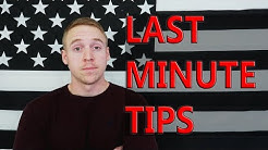 Basic Training | LAST MINUTE TIPS Before Leaving