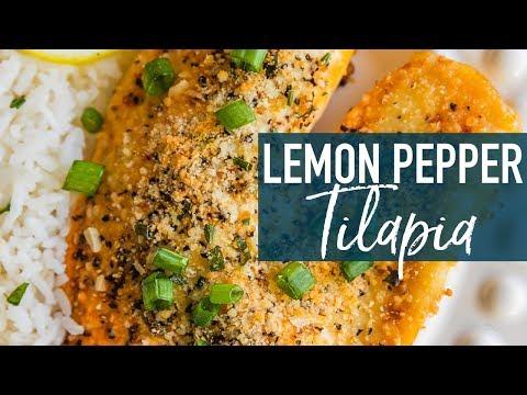 Parmesan Crusted Lemon Pepper Tilapia Recipe