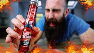 THE TUBE OF TERROR CHALLENGE | 13 MILLION SCOVILLES | WORLD'S HOTTEST PEANUTS | BeardMeatsFood