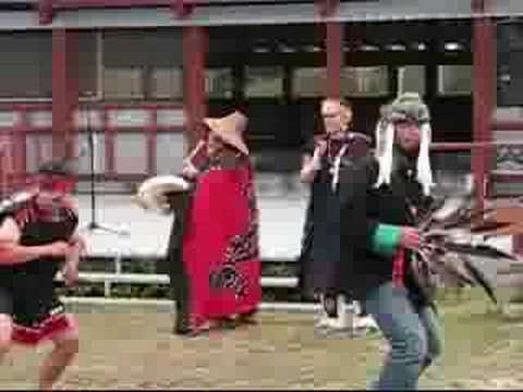 Yukon - Moosehide Festival 2008 - Paddle song