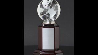 Glass Crystal Globe Employee Reward 10C - AsapAwards.com