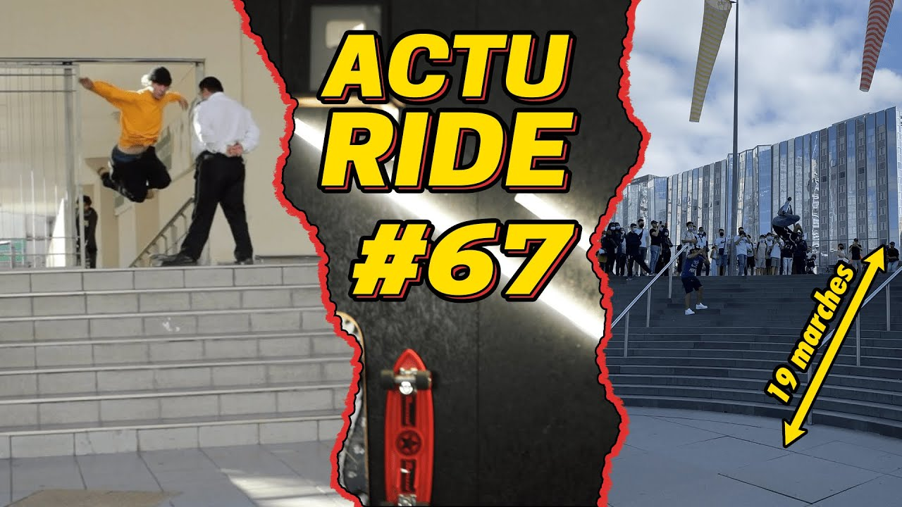 ACTU RIDE #67 : Un vigile blesse un rider, Esteban Clot bat un record du monde, Tony Hawk régale !