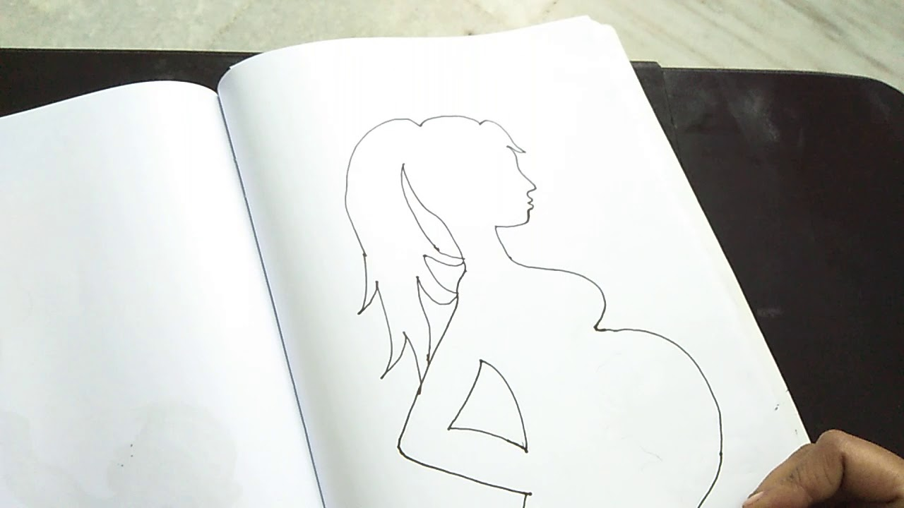 Pregnant women simply and easy drawing video