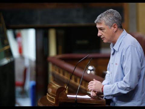 Gran intervenció antifeixista al Congrés dels Diputats