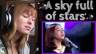 GLORIA JESSICA - A SKY FULL OF STARS | KNOCKOUT - The voice Indonesia | REACTION
