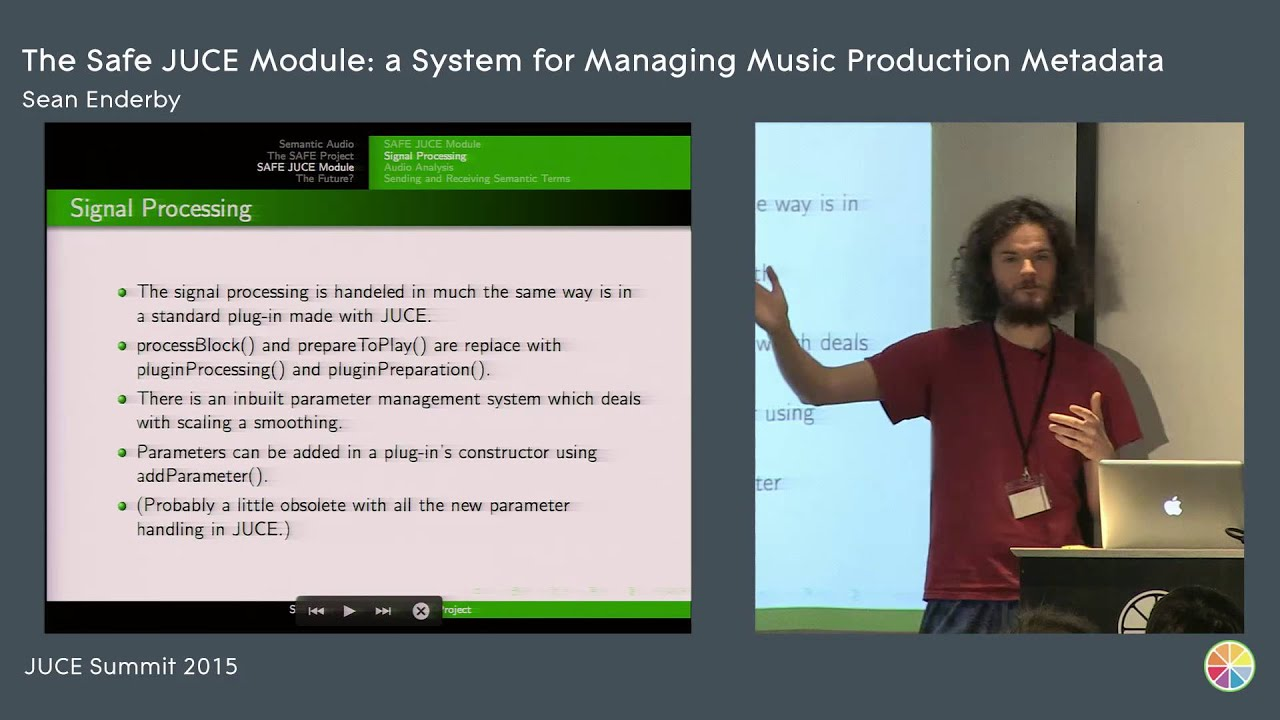 The SAFE JUCE module: Managing Music Production Metadata, Sean Enderby,  JUCE Summit 2015
