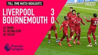 Liverpool 3 - 0 Bournemouth | EPL Highlights | Astro SuperSport