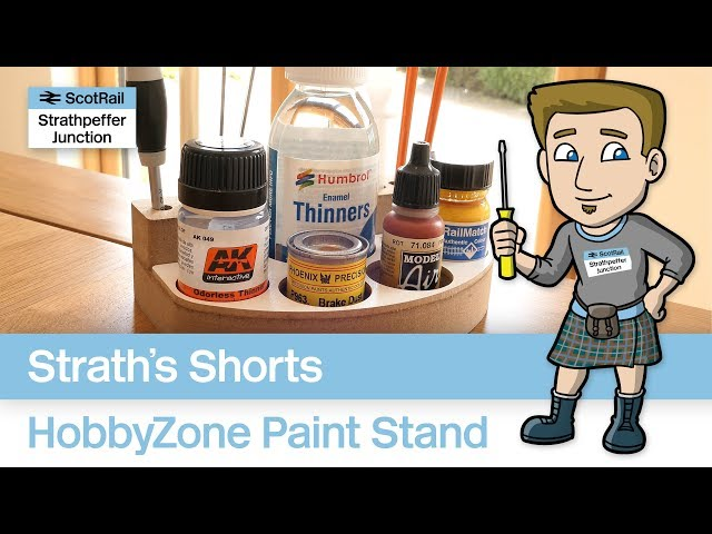 A quick look at the HobbyZone SM1 Paint Pot Holder & Brush Stand...easy DIY!