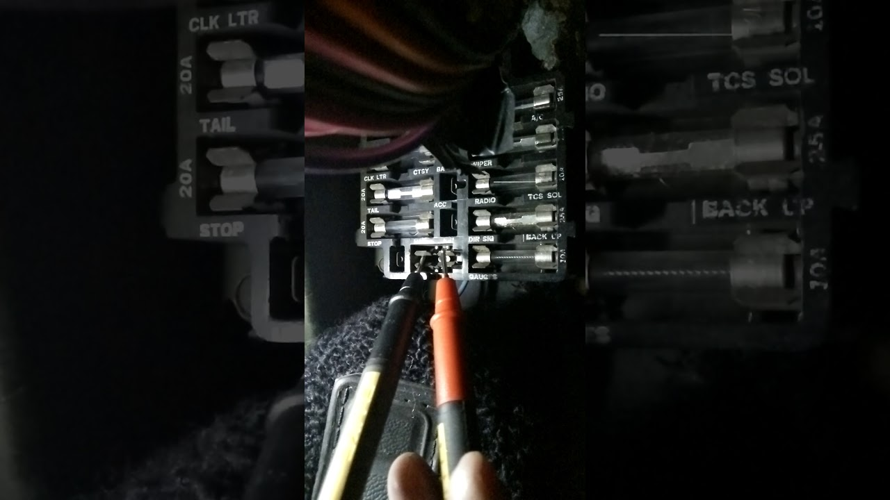 Courtesy Lights Issue - Dash Light Fuse