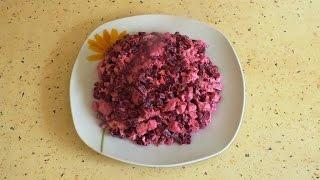Салат из курицы и свеклы / Chicken salad and beets