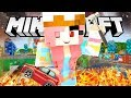 BECOMING A GIANT IN MINECRAFT! WE DESTROY A CITY!