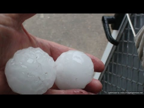 Huge Hail Stones in Storm  - Highly Recommended Viewing
