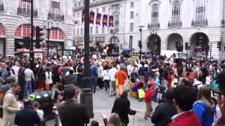 Hindu Converts at London Rathayatra Procession