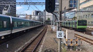 【しょうなん、やまのてせん】E257系 特急 湘南、山手線 E235系@田町駅