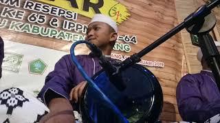 Adinulana - master darbuka LANTUNAN MUTIARA (zimam) live alun2 bawang batang